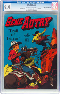 Four Color #66 Gene Autry - Mile High Pedigree (Dell, 1945) CGC NM 9.4 Off-white to white pages