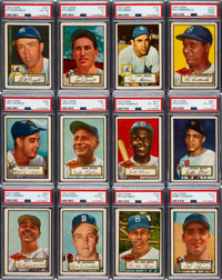 1952 Topps Baseball Partial Set (276/407) - With Near-Complete Run of High Numbers