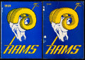 Football Collectibles:Publications, 1949 & 1959 Los Angeles Rams Press Guide Lot of 2.... (Total: 2 items)