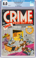 Golden Age (1938-1955):Crime, Crime Does Not Pay #31 Mile High Pedigree (Lev Gleason, 1944) CGC VF 8.0 Off-white to white pages....
