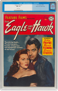 Feature Films #3 The Eagle and the Hawk - Mile High Pedigree (DC, 1950) CGC NM 9.4 White pages