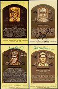 Autographs:Post Cards, Signed Baseball Hall of Fame Plaque Postcard Lot of 4.... (Total: 4 items)