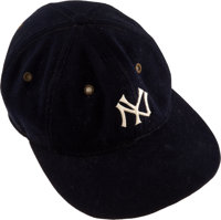 1929-32 Lou Gehrig Game Worn New York Yankees Cap from The Lou Gehrig Collection, MEARS Authentic