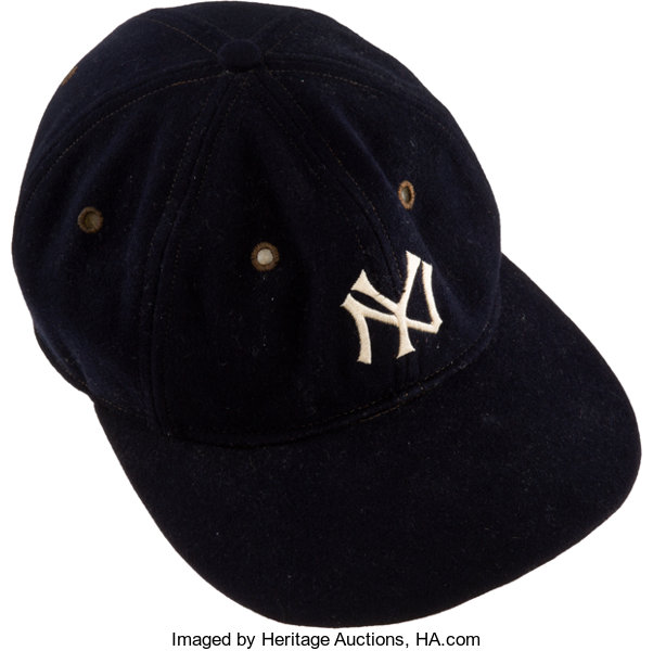 1afc8bd2fb376 1929-32 Lou Gehrig Game Worn New York Yankees Cap from The