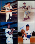 Autographs:Photos, Brooklyn/Los Angeles Dodgers Signed Photograph Lot of 4.... (Total: 4 items)