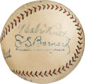 Baseball Collectibles:Balls, 1928 Babe Ruth, Ty Cobb, Tris Speaker & Eddie Collins Signed Baseball from The Lou Gehrig Collection....
