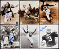 Autographs:Photos, Football Greats Signed Photograph Lot of 6.... (Total: 6 items)