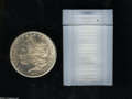 An Uncertified roll of 1880-S $1 Morgan Dollars, housed in a plastic tube. The coins grade between MS60 and MS63....(PCG...