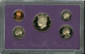 Proof Sets: , An Uncertified No S Cent 1990-S Proof Set. The Cent grades PR60 Deep Cameo Environmental Damage, the remaining four pieces (... (5 Coins)