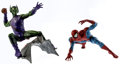 Memorabilia:Comic-Related, Spider-Man and Green Goblin Assembled and Painted Vinyl Model Kits (Marvel, 1999).... (Total: 2 Items)