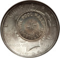Counterstamps, 1922 Peace Dollar -- Owl Pool Hall, Portola, CA Counterstamp -- MS63 NGC....