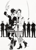 Original Comic Art:Illustrations, Jaime Hernandez Perfect Trajectory Maggie and Hopey fromLove and Rockets Limited Print Illustration O...
