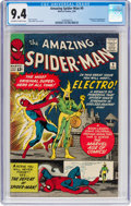 Silver Age (1956-1969):Superhero, The Amazing Spider-Man #9 (Marvel, 1964) CGC NM 9.4 Off-white towhite pages....