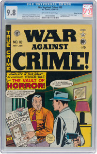 War Against Crime #10 Gaines File Pedigree (EC, 1949) CGC NM/MT 9.8 Off-white to white pages