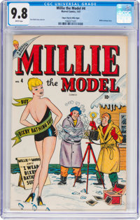 Millie the Model #4 Mile High Pedigree (Marvel, 1947) CGC NM/MT 9.8 White pages