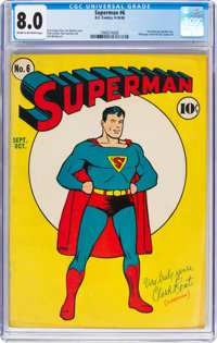 Superman #6 (DC, 1940) CGC VF 8.0 Cream to off-white pages