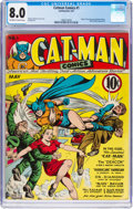 Golden Age (1938-1955):Superhero, Cat-Man Comics #1 (Helnit, 1941) CGC VF 8.0 Off-white to white pages....