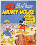 Platinum Age (1897-1937):Miscellaneous, 40 Big Pages of Mickey Mouse #945 (Whitman, 1936) Condition:VF/NM....