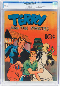 Large Feature Comic (Series I) #2 Terry and the Pirates - Mile High Pedigree (Dell, 1939) CGC NM+ 9.6 White pages