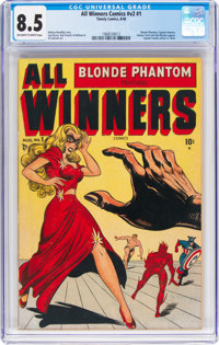 All Winners Comics V2#1 (Timely, 1948) CGC VF+ 8.5 Off-white to white pages