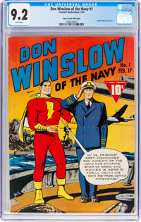 Don Winslow of the Navy #1 Mile High Pedigree (Fawcett Publications, 1943) CGC NM- 9.2 White pages