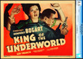 """Movie Posters:Crime, King of the Underworld (Warner Brothers, 1939). CGC Graded LinenFinish Title Lobby Card (11"""" X 14"""").. ..."""