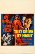 "Movie Posters:Drama, They Drive by Night (Warner Brothers, 1940). Fine/Very Fine onCardstock. Window Card (14"" X 22""). Drama.. ..."