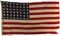 Military & Patriotic:WWII, Rare 1940 USS Maryland (BB-46) 48-Star Ship's Flag....