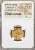 Ancients:Byzantine, Ancients: Phocas (AD 602-610). AV solidus (20mm, 4.52 gm, 7h). NGCMS 4/5 - 3/5....