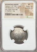 Ancients:Byzantine, Ancients: Alexius I Comnenus (AD 1081-1118). AR miliaresionscyphate (26mm, 1.91 gm, 6h). NGC XF 4/5 - 3/5....