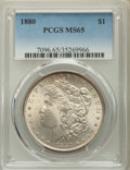 1880 $1 MS65 PCGS. PCGS Population: (1310/208). NGC Census: (698/39). CDN: $425 Whsle. Bid for problem-free NGC/PCGS MS6...