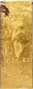 S.S. Central America Gold Bars, Henry Hentsch Gold Ingot. 154.23 Ounces....