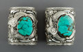 American Indian Art:Jewelry and Silverwork, A Pair of Massive Navajo Cuffs. Robert and Noreen Kelly... (Total:2 Items)