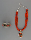 American Indian Art:Jewelry and Silverwork, Two Navajo Jewelry Items... (Total: 2 Items)