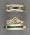 Jewelry:Bracelets, Two Navajo Cuff Bracelets. Whirling Wind and Ernest Bilagody... (Total: 2 Items)