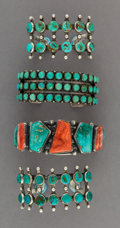American Indian Art:Jewelry and Silverwork, Four Navajo Bracelets... (Total: 4 Items)