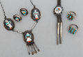 American Indian Art:Jewelry and Silverwork, Five Zuni Jewelry Items ... (Total: 5 Items)