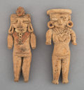 Pre-Columbian:Ceramics, Two Large Pre-Classic Chupicuaro Figures... (Total: 2 Items)