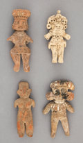 Pre-Columbian:Ceramics, Four Small Pre-Classic Figures... (Total: 4 Items)