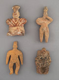 Pre-Columbian:Ceramics, Four West Mexican Pre-Classic Figures... (Total: 4 Items)