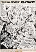 Original Comic Art:Splash Pages, Billy Graham and Virgil Redondo Jungle Action #17 SplashPage 1 Original Art (Marvel, 1975)....