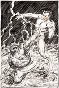 Original Comic Art:Splash Pages, John Byrne Namor, the Sub-Mariner Annual #3 Pin-UpIllustration The Thing Original Art (Marvel, 1993)....