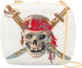 "Luxury Accessories:Bags, Judith Leiber Pirate Skull Minaudiere. Condition: 1. 5"" Width x 4.5"" Height x 2"" Depth. ..."