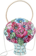 """Luxury Accessories:Bags, Judith Leiber Bouquet Minaudiere . Condition: 1. 5"""" Width x 8""""Height x 4""""Depth. ..."""