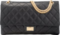 """Luxury Accessories:Bags, Chanel Reissue 2.55 50th Anniversary Edition Black Aged Lambskin Leather Double Flap Bag. Condition: 3. 14"""" Width x 8...."""