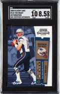 Football Cards:Singles (1970-Now), 2000 Playoff Contenders Tom Brady Rookie Ticket Autograph #144 SGC NM-MT+ 8.5 - 10 Autograph....