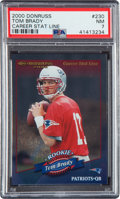 Football Cards:Singles (1970-Now), 2000 Donruss Tom Brady Career Stat Line #230 PSA NM 7 - Numbered 43/214....