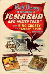 "The Adventures of Ichabod and Mr. Toad (RKO, 1949). One Sheet (27"" X 41"")"