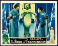 """Movie Posters:Horror, The Bride of Frankenstein (Universal, 1935). Lobby Card (11"""" X14"""").. ..."""