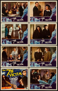 "The 7th Victim (RKO, 1943). Lobby Card Set of 8 (11"" X 14""). ... (Total: 8 Items)"
